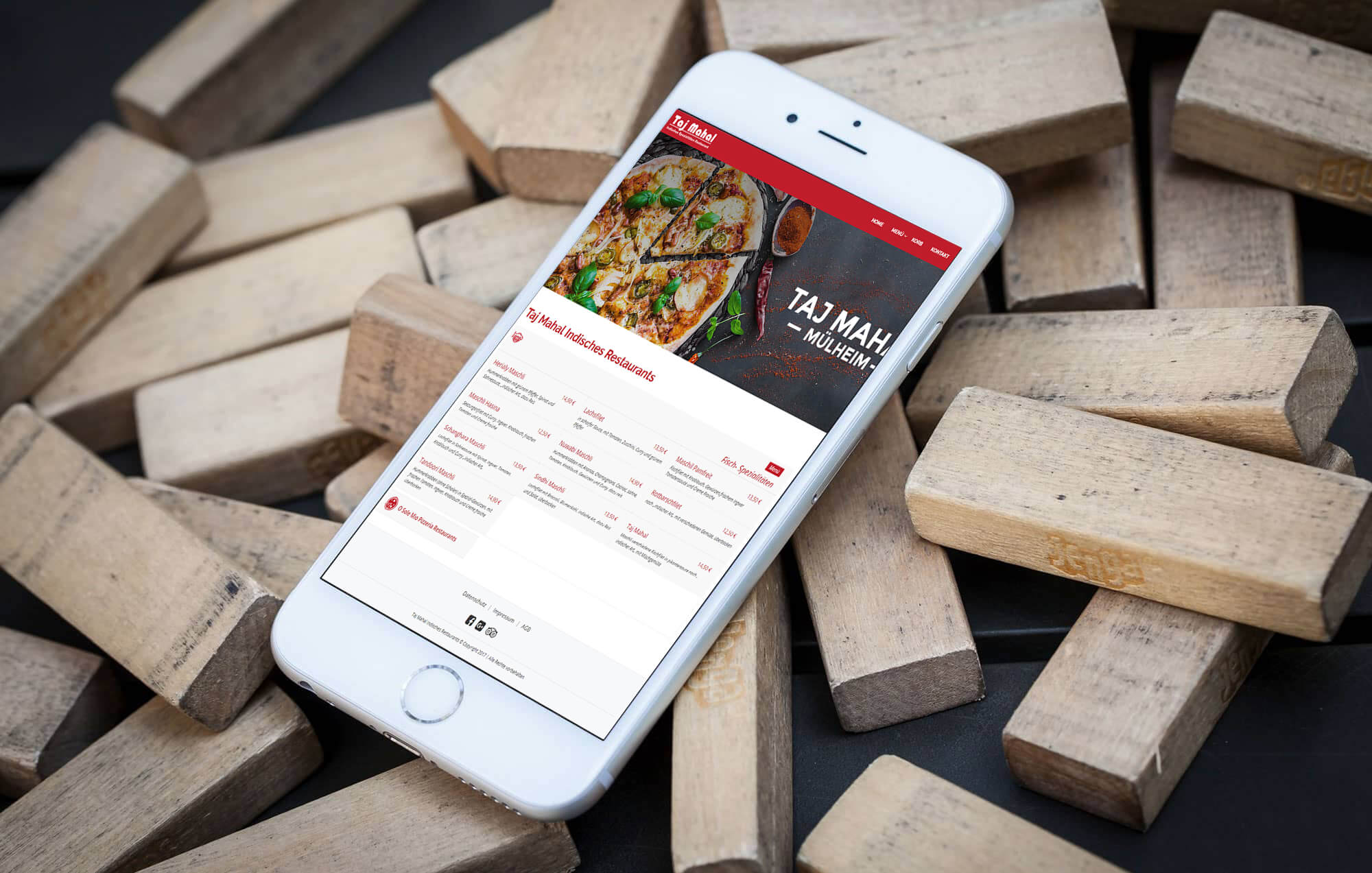 Brandcrock-Taj Mahal Restaurants iphone