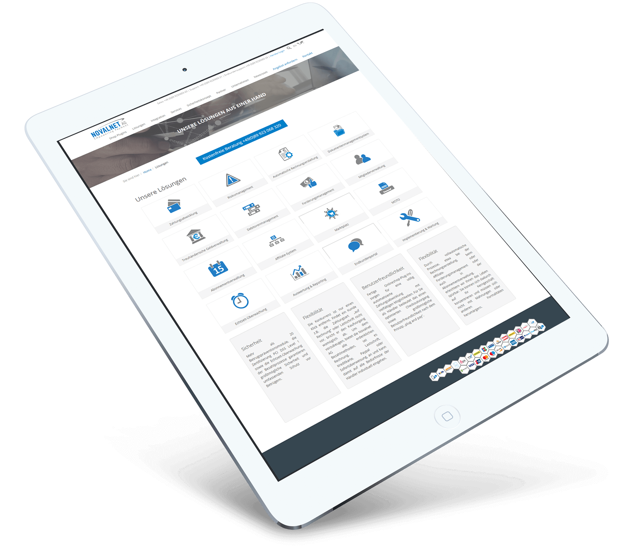 Novalnet_BrandCrock-portfolio-service-ipad