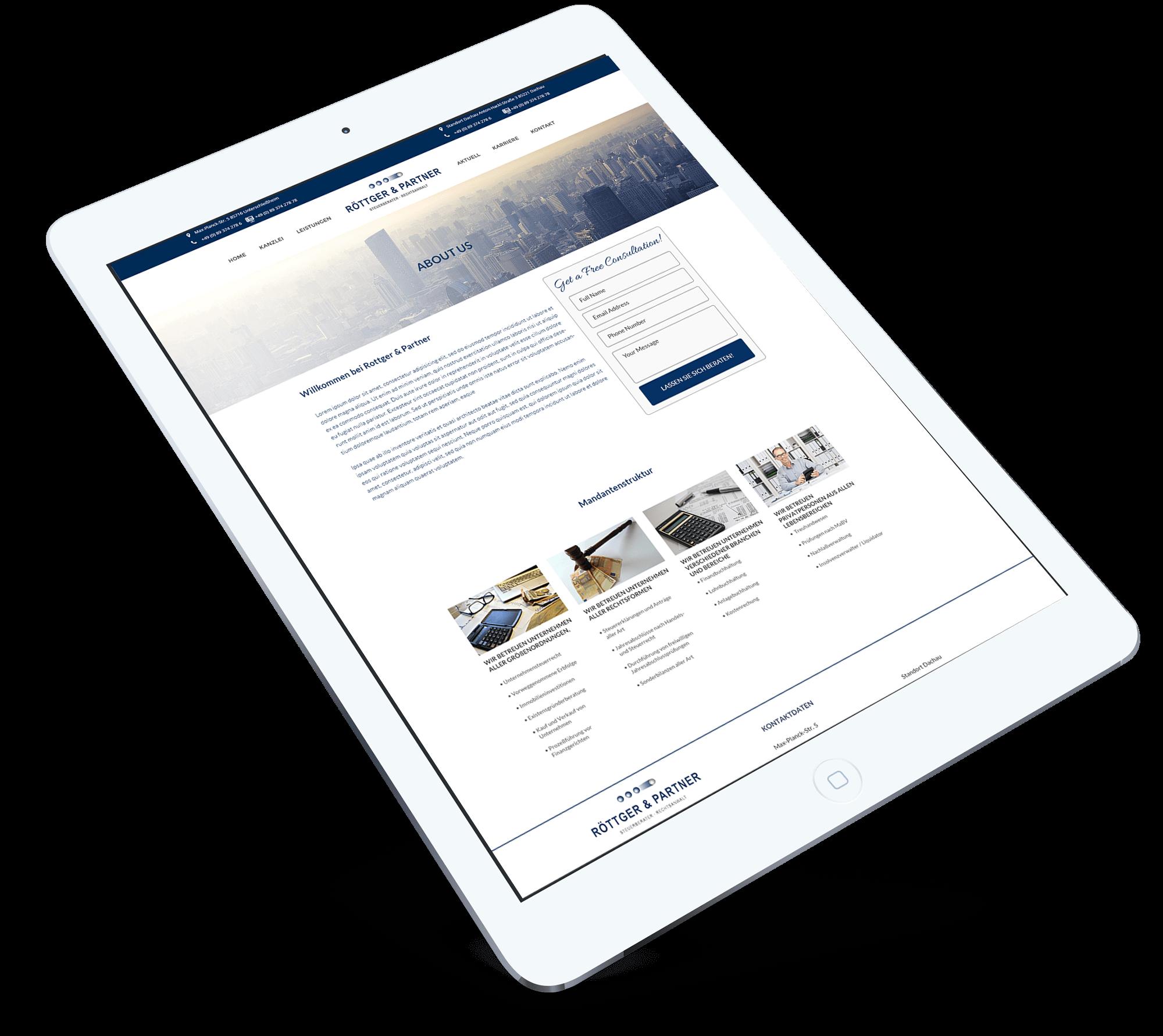Rottger & Partner-BrandCrock-portfolio-client structure-ipad