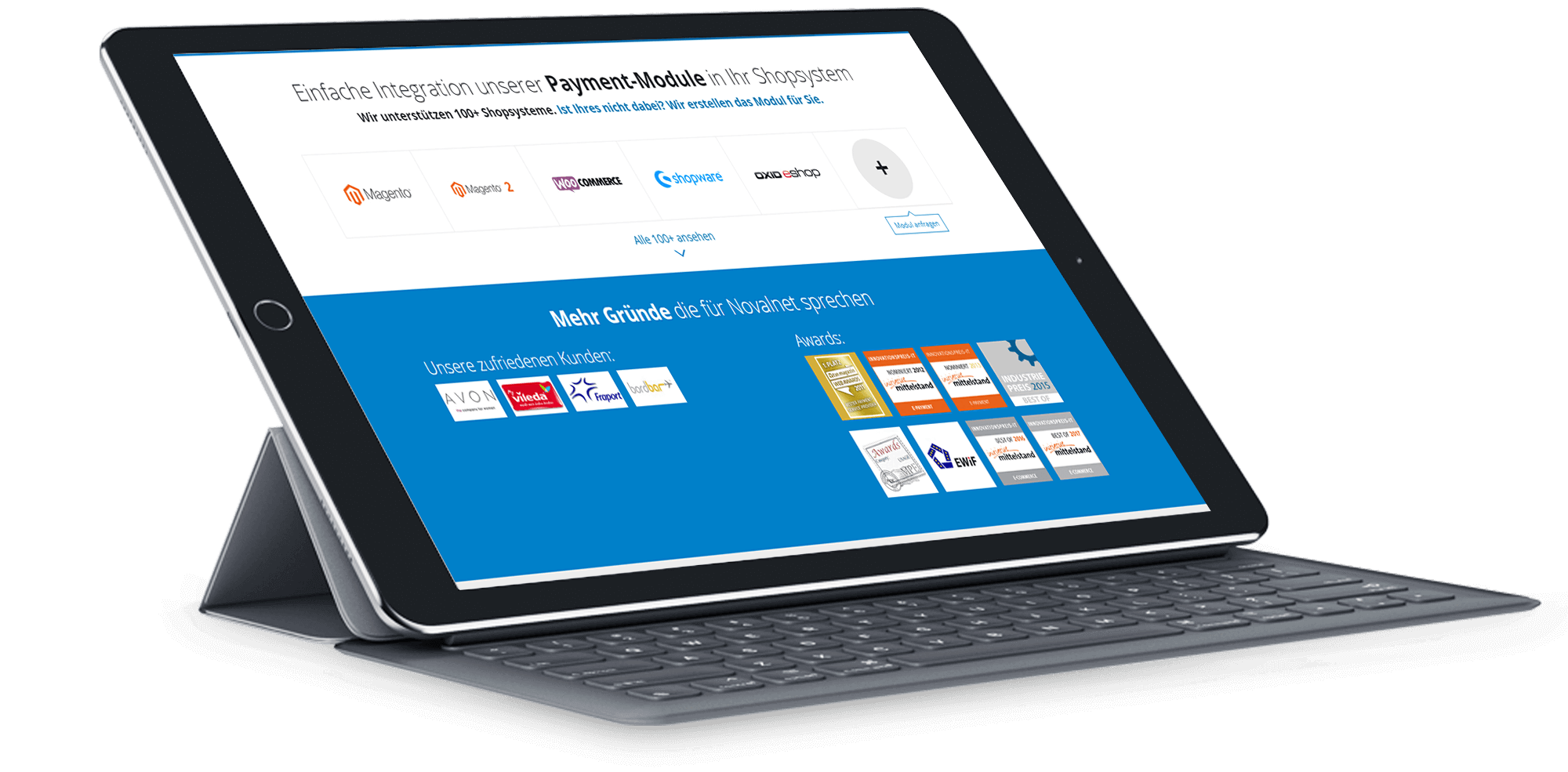 Novalnet_BrandCrock-portfolio-customers& awards-ipad