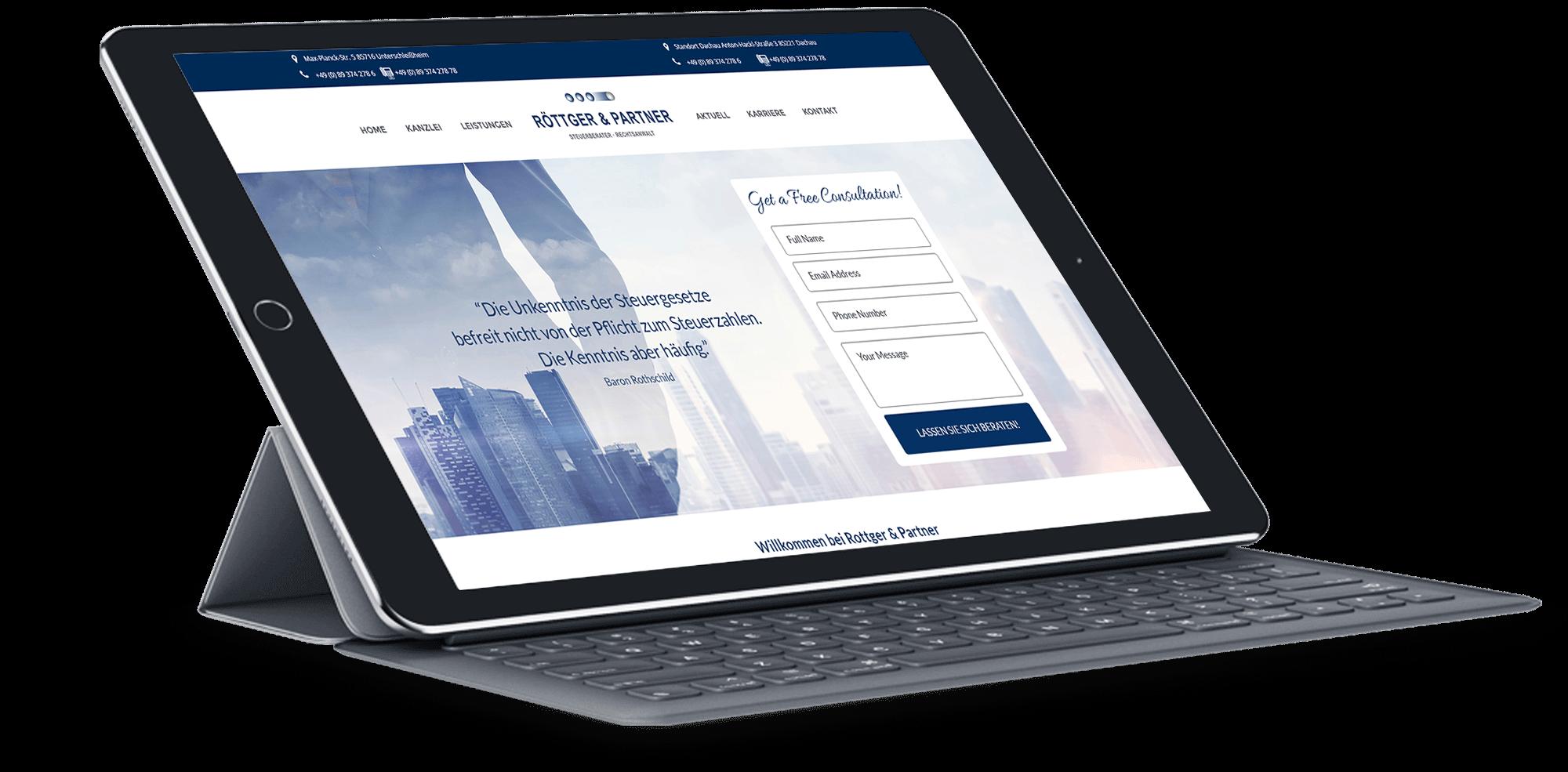 Rottger & Partner-BrandCrock-portfolio-free consultation-ipad