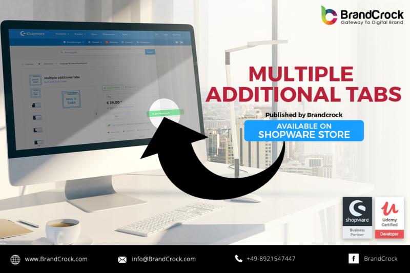 Shopware Plugin Multiple Additional Tabs